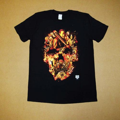 TWD Flaming Skull